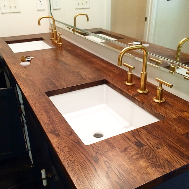 Dayka Robinson Brookside Oak Butcher Block Countertops bathroom custom.JPG