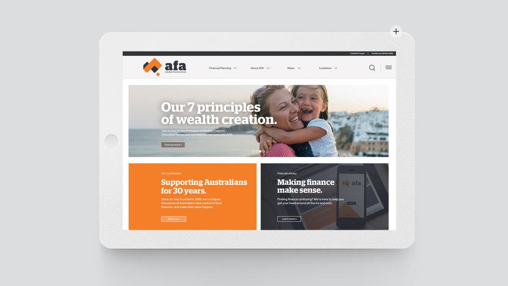 Protecting Australia's finances.   Australian Financial Advisory — AFA                  View project »
