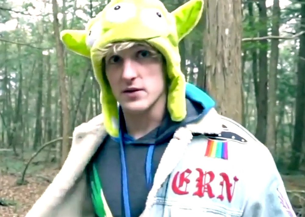 Screencap from Logan Paul's now-deleted YouTube video