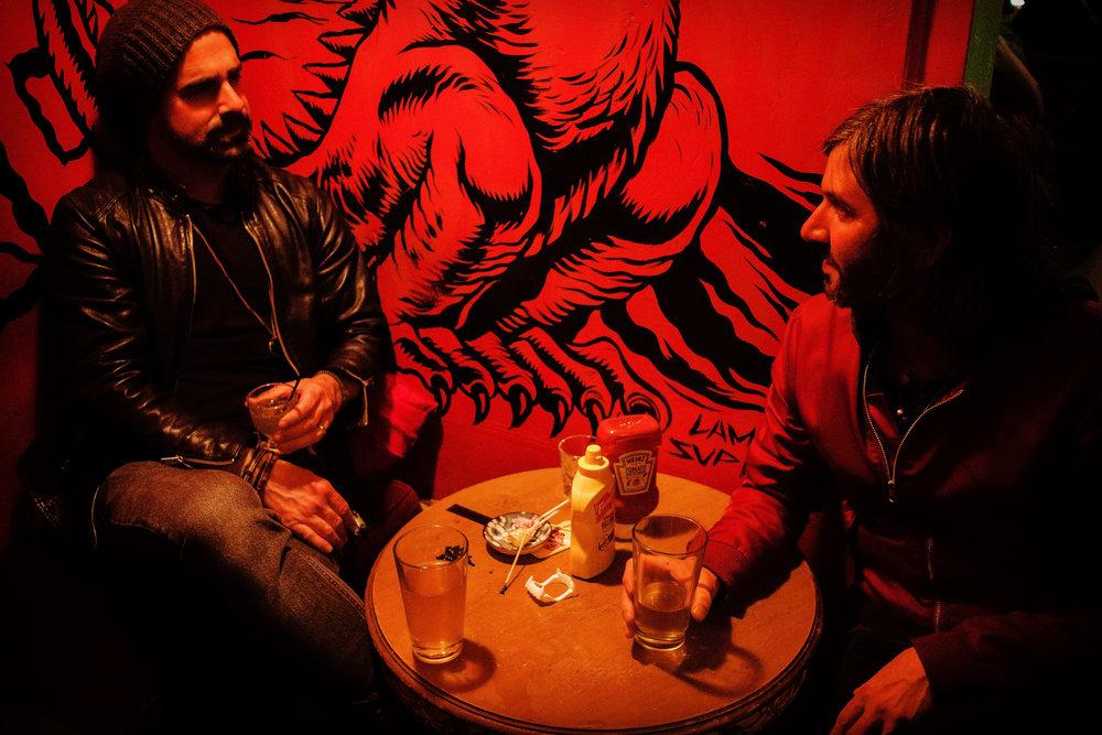Justin DiFebbo and Michael Montesano of the Underground Thieves. Photo by Ari Halbkram.