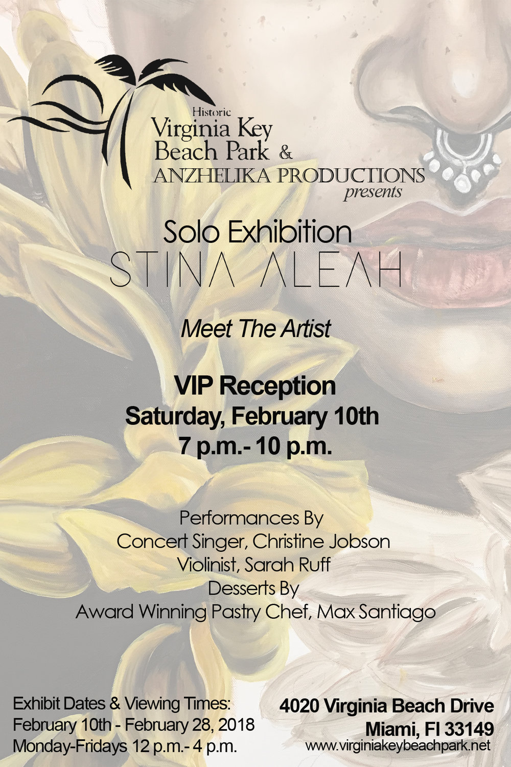 Solo Exhibition with the Virginia Key Beach Park on February 10th 2018. Work will be on display until February 28th, 2018