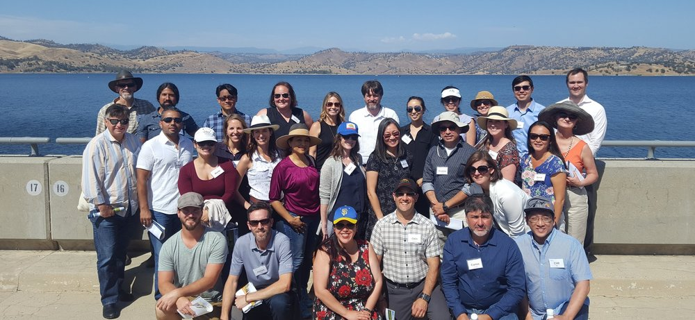 The Water Solutions Network's inaugural cohort went on a site visit to Friant Dam on the San Joaquin River in central California on June 6, 2018.
