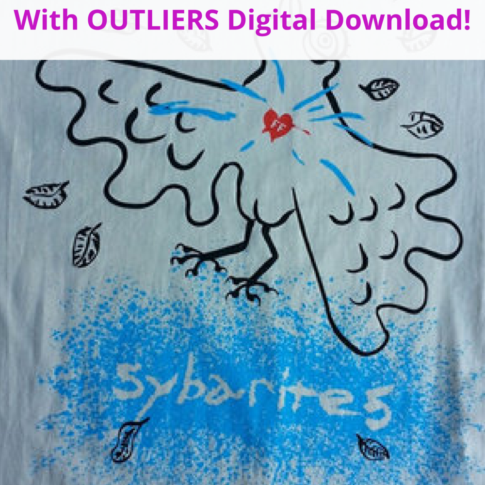 <b>Birdie<br></b><small>T-shirt + OUTLIERS Full Digital Download<br></small><b>$25</b>