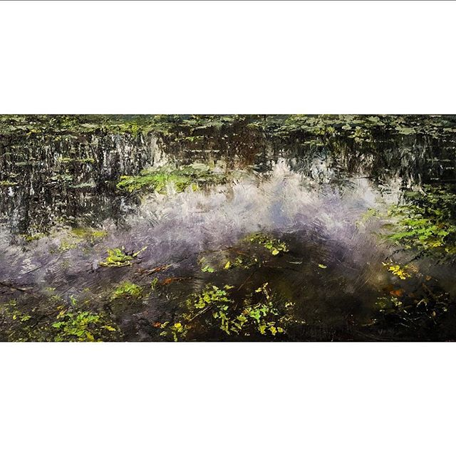 """Fall sky"" 20""x10"" oil on linen was finished yesterday 🍂🍁 • • • #artoninsta #dailyart #contemporaryart #light #fall #louisiana #louisianaartist #australianartist #landscape #landscapeart #oilonlinen #bestart #artinspiration #artoninstagram #artoninsta #rembrandtoils #swamp #lakemartin"