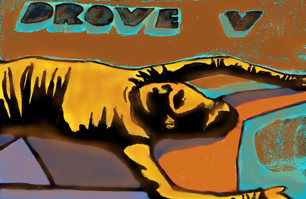 Drove V Postcard Designed by Deirdre Weinberg