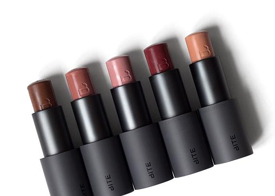 Bite Beauty Multi Sticks - used as lipstick, blush, and eyeshadow
