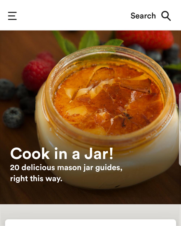Joule app homepage.