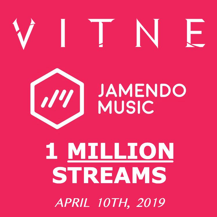 Milestone: VITNE Reaches 1 Million Streams on Jamendo \u2014 VITNE