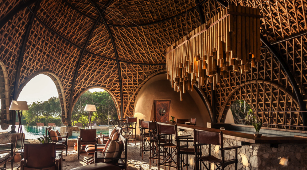"""Wild Coast Tented Lodge, SRI LANKA  This spectacular luxury tented camp is situated in a stunning location where the jungle meets a pristine beach, overlooking the blue waters of the Indian Ocean. Adjacent to the world famous Yala National Park, leopards, sloth bears and jungle cats are among the safari thrills for guests.  The 28 vaulted """"Cocoons"""" take on the shape and colour of the rocks and boulders that lay scattered nearby, whilst a clever layout in the shape of a leopard's paw print alludes to the area's most famous resident.  This tented camp offers the comfort of a luxury hotel with the excitement of a safari-style wilderness experience. Guests can enjoy creative daily-changing menus of authentic Sri Lankan cuisine in the restaurant, as well as sundowner cocktails and picnics al fresco on the sand dunes, watching dusk settle over the Indian Ocean.  Newly opened in October 2017, this hotel is set in one of the country's most wildlife-rich safari parks but with views of the ocean,Wild Coast has the best of both worlds."""