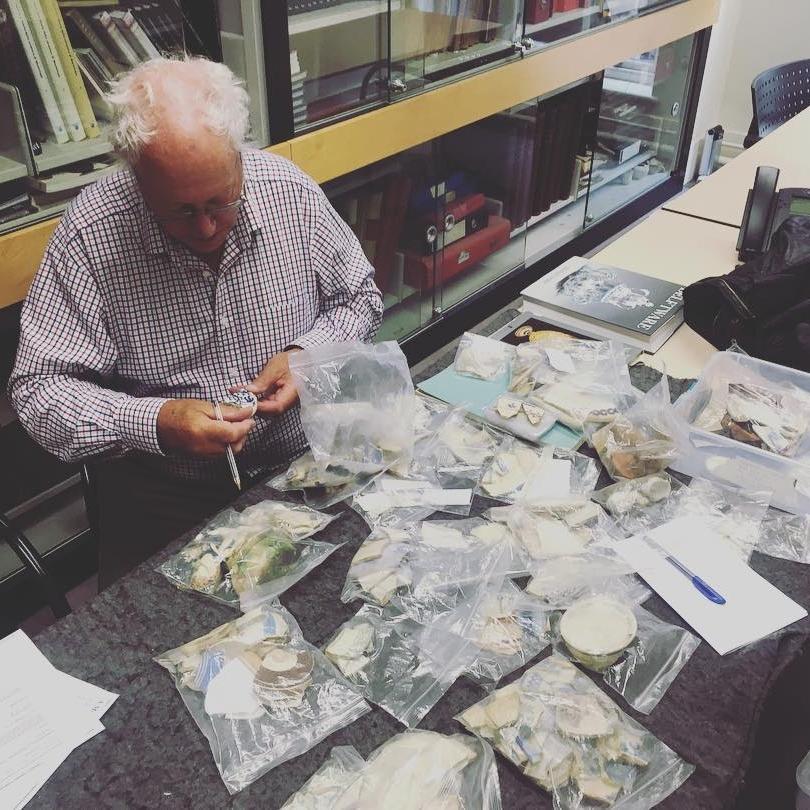 English ceramic historian, Robin Hildyard at the Victoria and Albert Museum, London, 2017. Photo: Joshua Lue Chee Kong