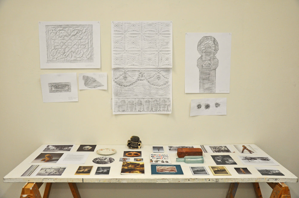 Display of my research at the Firehouse, Vermont Studio Center, Vermont, USA, 2017. Photo: Joshua Lue Chee Kong