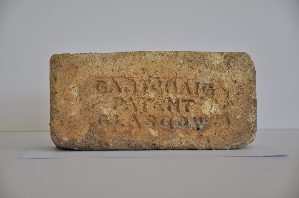 Ballast brick from Glasgow salvaged from the church