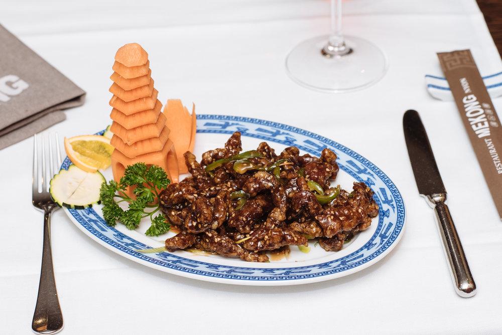 Boeuf croustillant sauce Suchuan