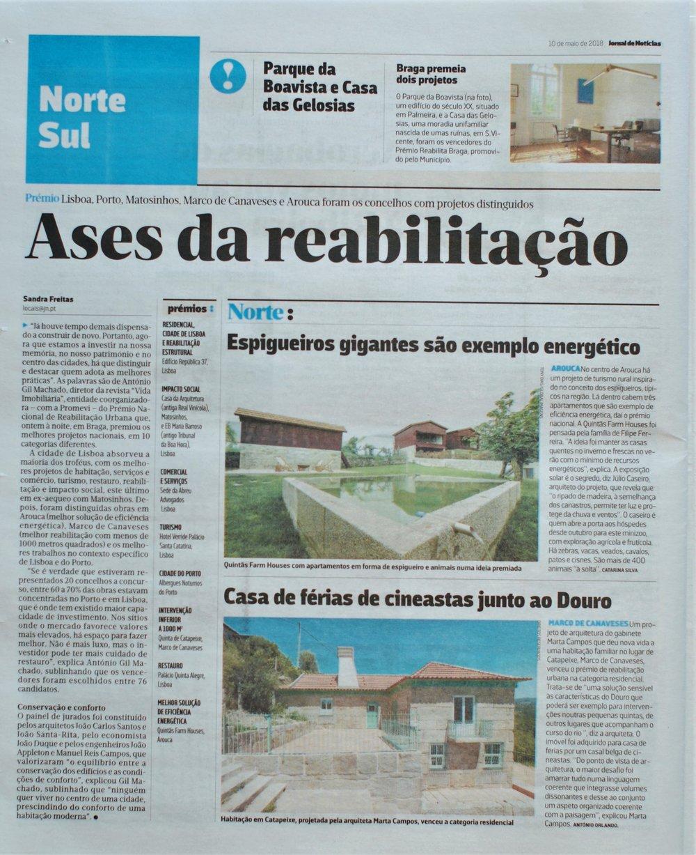JORNAL DE NOTÍCIAS - PRÉMIO DE REABILITAÇÃO URBANA 2018