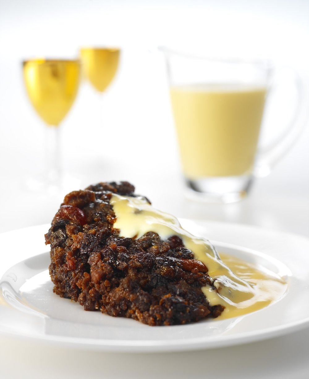 1.36kg MW Christmas Pudding (piece from catering loaf ).JPG
