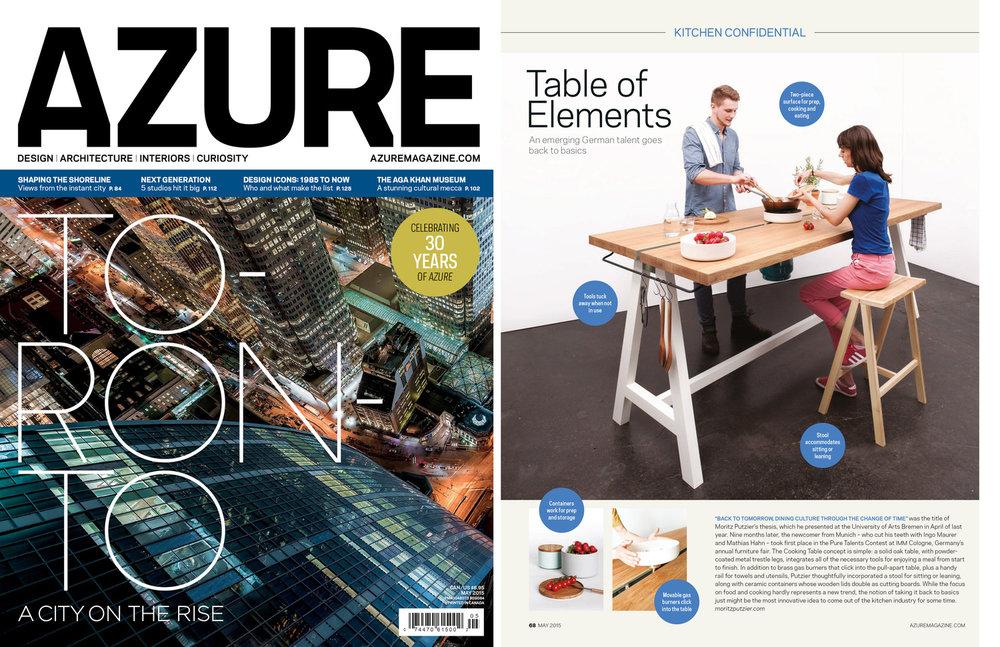 Tearsheet: Azure Magazin, Mai 2015