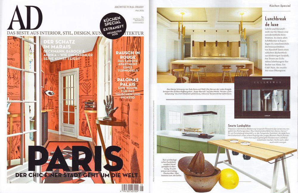 Tearsheet: AD Magazin, Mai 2015
