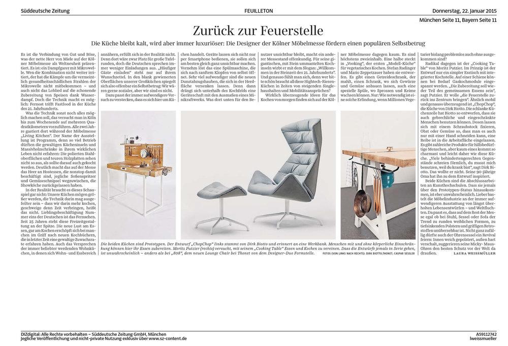 Tearsheet: Süddeutsche Zeitung, 2015