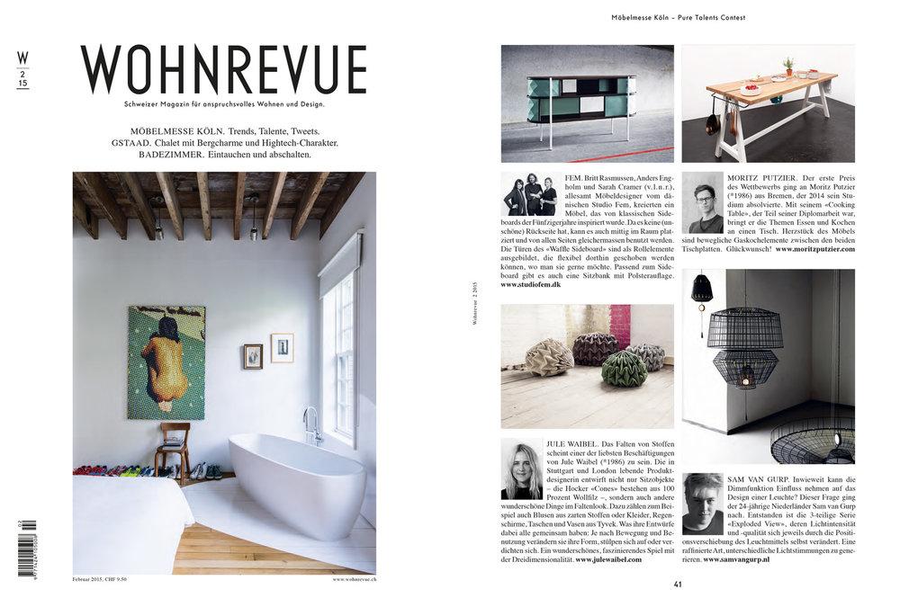 Tearsheet: Wohnrevue, 2015