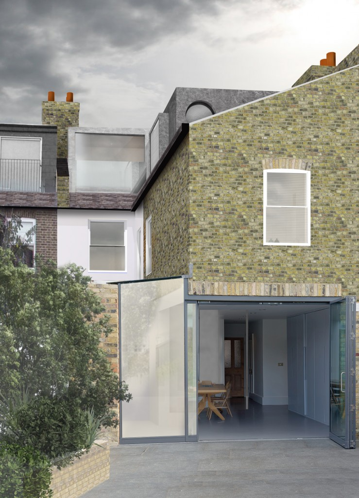 Render of proposed loft conversion to 78 Heathwood Gardens - Greenwich London.