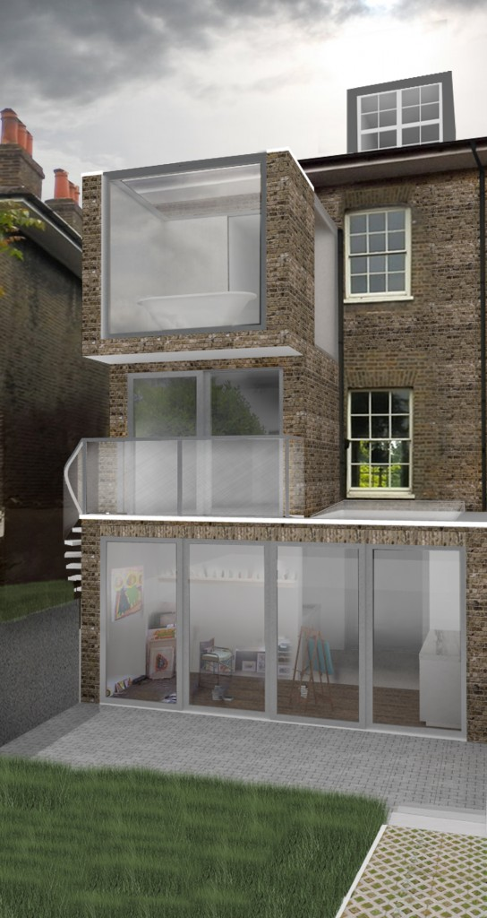 Image of proposed change to house - 39 Vanbrugh Park.