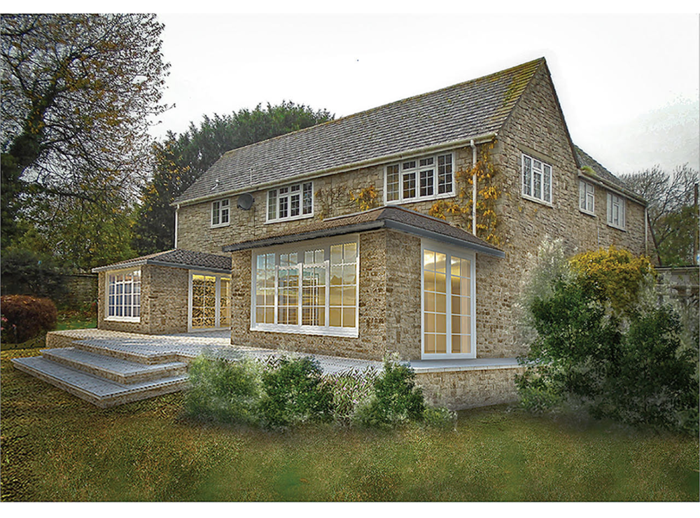 Image of proposed change to house - Orchard Cottage, Corfe Castle, Dorset.