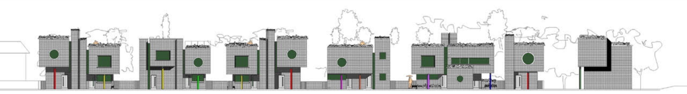 'Tumbling Dice' - Housing Development on Marsh Street, Kent.