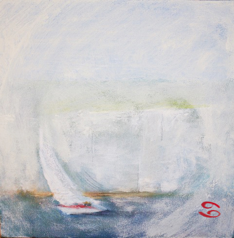 'Leaving Studland Bay'