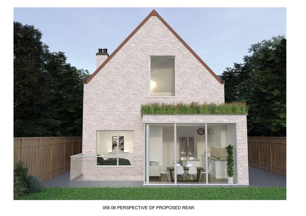 Render of proposed rear of extension