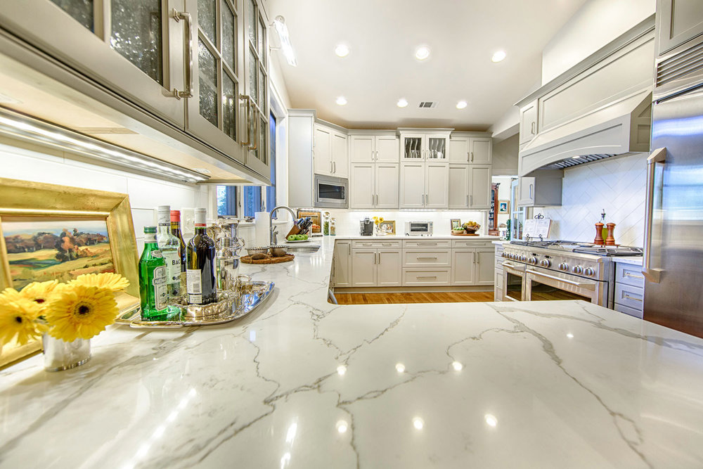 Polarstone Quartz Kitchen Countertops.