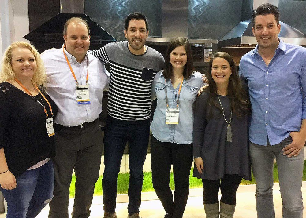 The Property Brothers and Toulmin Cabinetry Team
