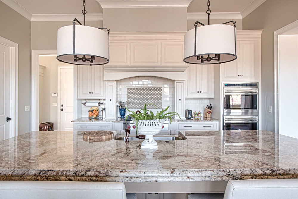 The countertops are a six centimeter Bordeaux granite.