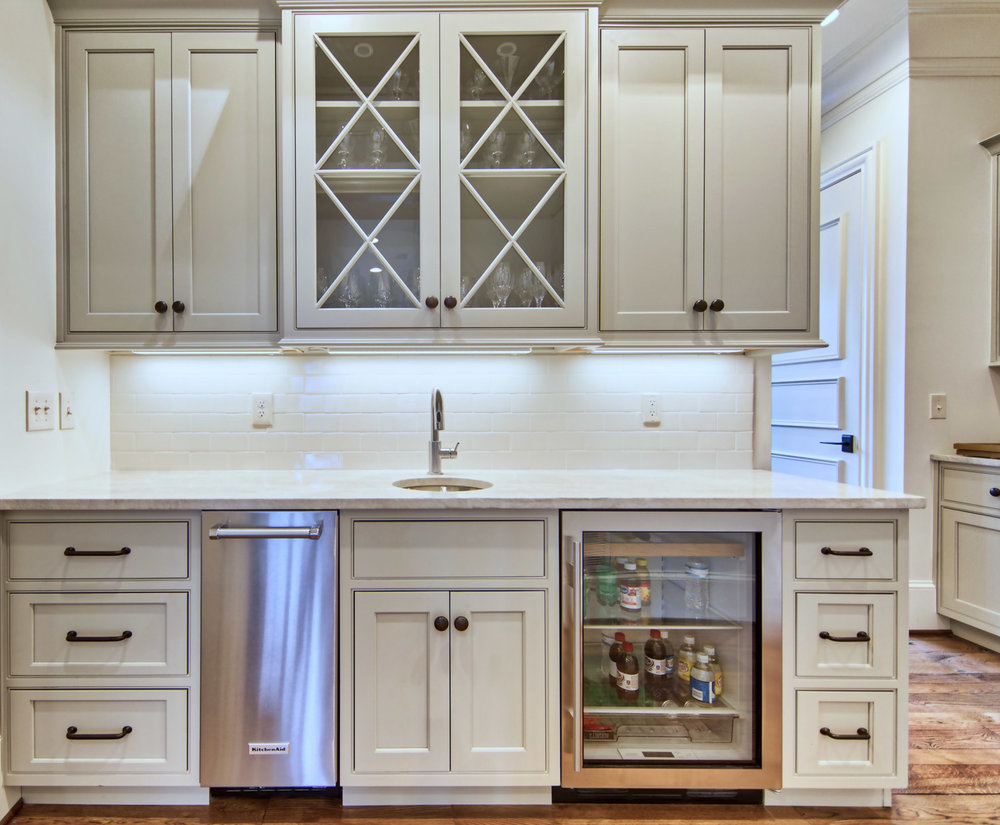Wet Bar and Butler's Pantry with bar sink