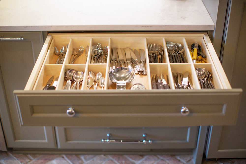 Silverware drawer inserts