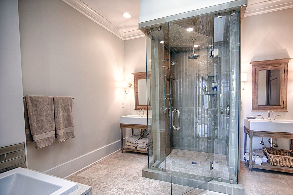 This bathroom was featured in Signature Kitchens & Baths Magazine.