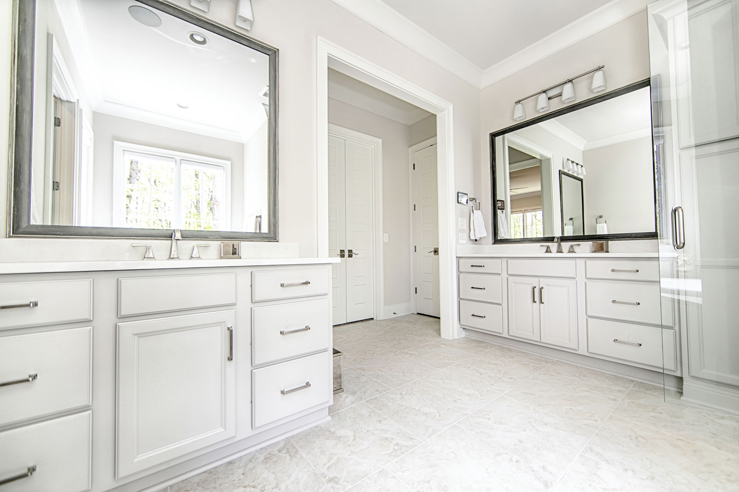 Master Suite Bath and Powder Room — Toulmin Cabinetry & Design