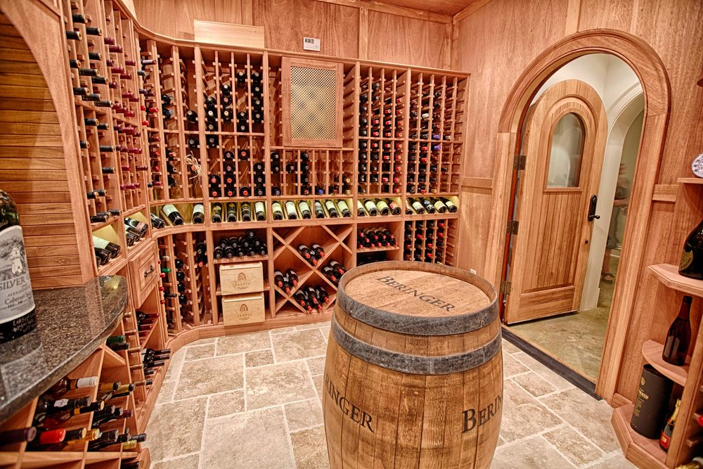 A wine cellar was designed and built for a client who relocated from Connecticut to Tuscaloosa, AL.