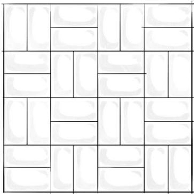Crosshatch Subway Tile Pattern