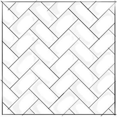 Traditional Herringbone Subway Tile Pattern