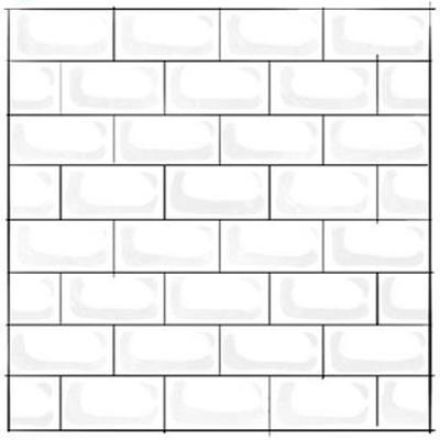 Offset Subway Tile Pattern