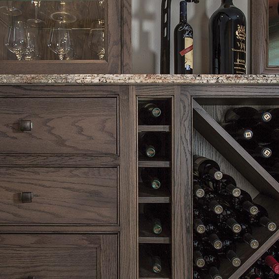 Dark Oak  Cabinets - Image Courtesy of Shiloh Cabinetry