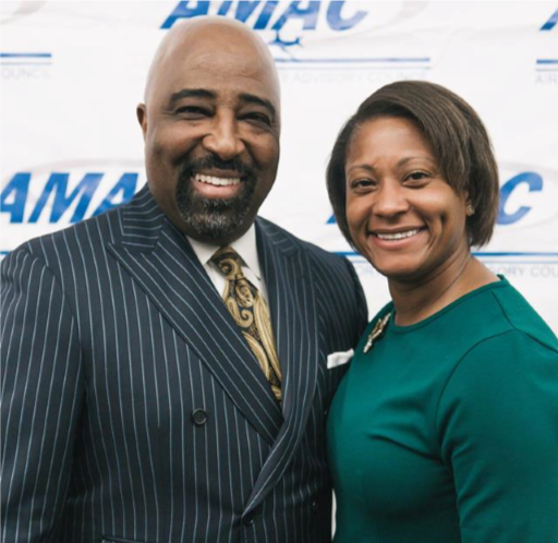 Clarence Lejeune with AMAC President/CEO, Krystal Brumfield
