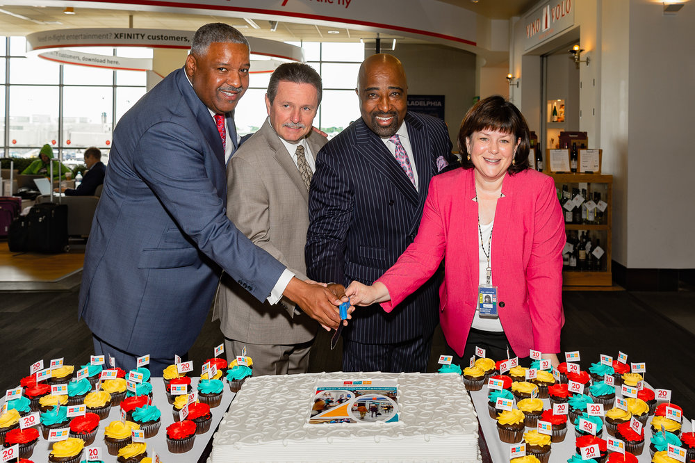 MELWOOD hANNAH, jAMES tYRRELL (phl cHIEF rEVENUE oFFICER), CLARENCE lEJEUNE, AND cHELLIE cAMERON (phl ceo) cELEBRATE 20 YEARS OF MARKETPLACE PHL