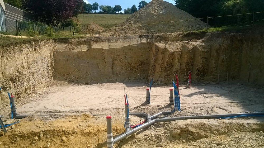 Basis voor de keldervloer