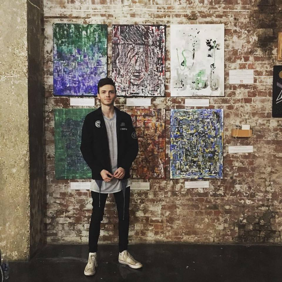 Samuel at the Pancakes and Booze Art Show 17th February 2017.