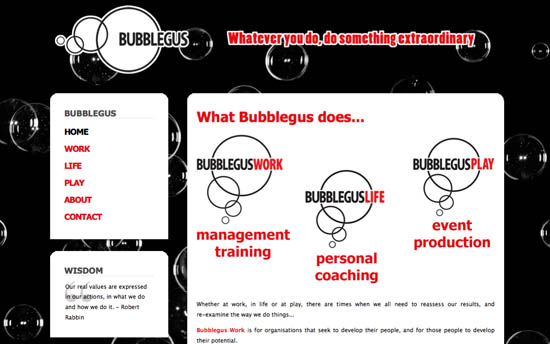 Bubblegus website