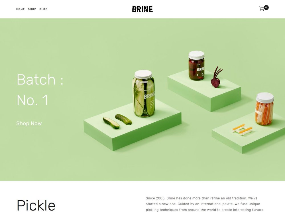 Brine Squarespace Template Analysis Using My Head Squarespace