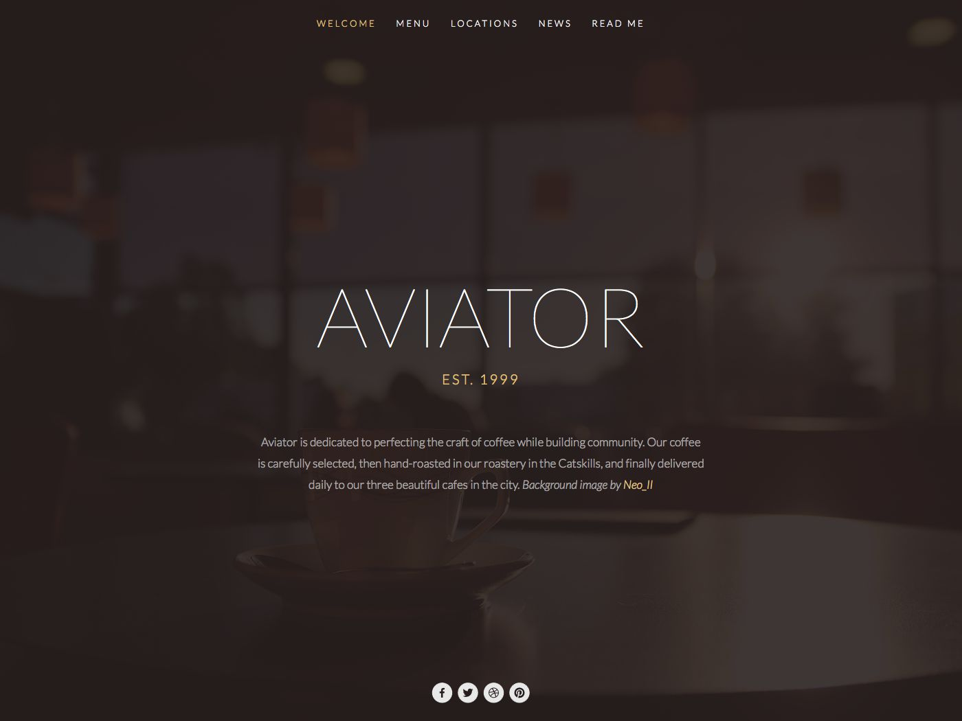 Aviator Squarespace Template Analysis