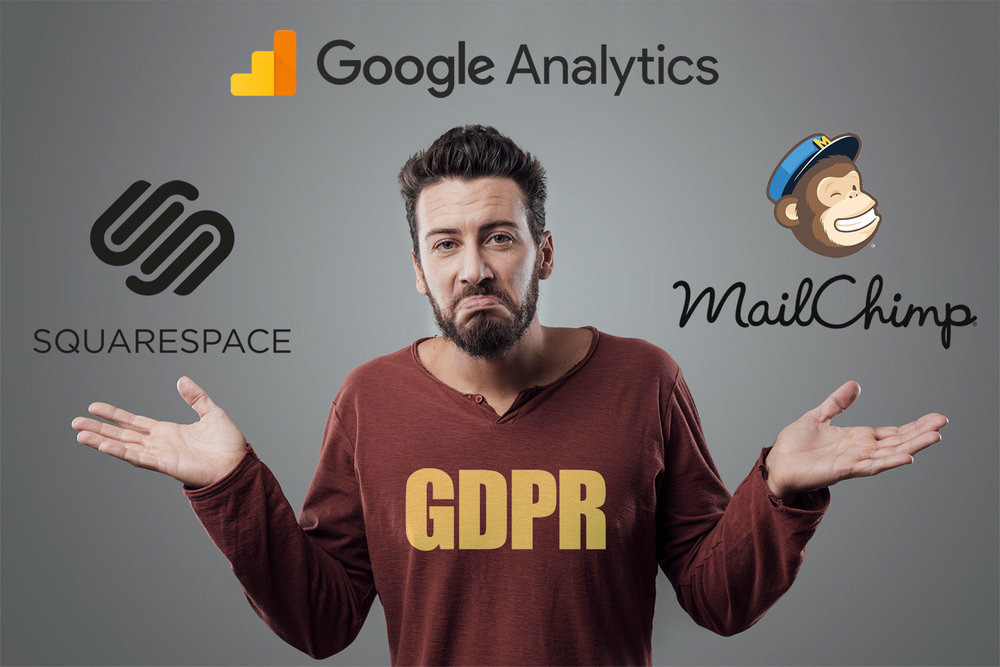 What do you need to do to become GDPR compliant - for Squarespace websites using MailChimp and/or Google Analytics