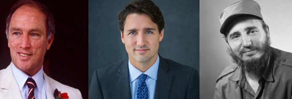 Justin resembles both  Trudeau and Castro